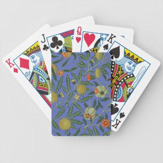 Vintage Botanical Pomegranate Pattern Wallpaper Bicycle Playing Cards