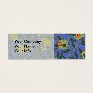 Vintage Botanical Pomegranate Pattern Wallpaper Mini Business Card