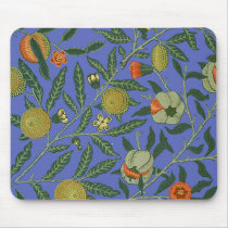 Vintage Botanical Pomegranate Pattern Wallpaper Mouse Pad