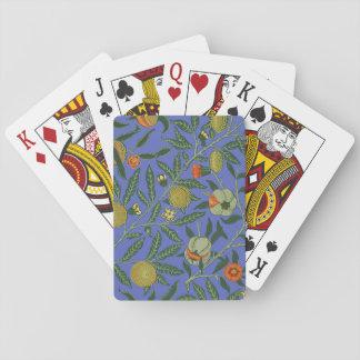 Vintage Botanical Pomegranate Pattern Wallpaper Playing Cards