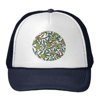Vintage Botanical Pomegranate Pattern Wallpaper Trucker Hat