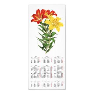 "vintage botanical print 2015 calendar invitation 4"" x 9.25"" invitation card"