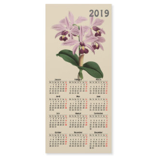 vintage botanical print 2019 calendar