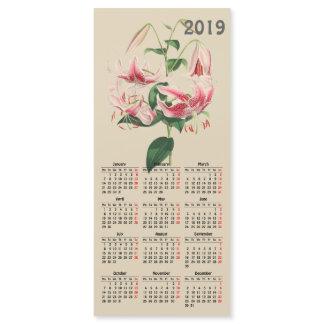 vintage botanical print 2019 calendar magnetic car