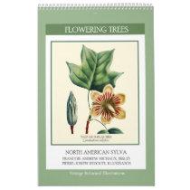 Vintage Botanical Redoute Flowering Trees 2018 Calendar