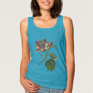 Vintage Botanical Study Passion Flower Tank Top