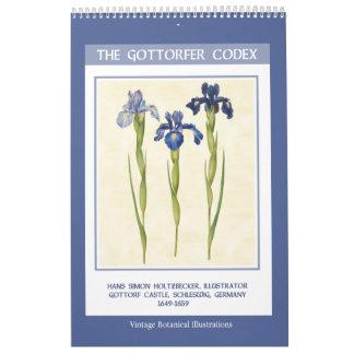 Vintage Botanical  - The Gottorfer Codex 2019 Calendar
