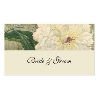Vintage Botanical White Peony Place Cards