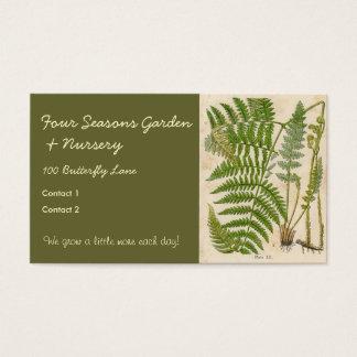 Vintage Botanicals Illustrations Business Card