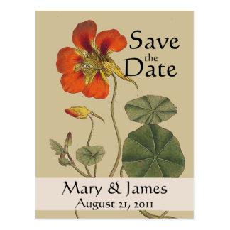 Vintage Botanicals Save the Date Postcard