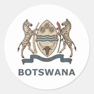 Vintage Botswana Classic Round Sticker