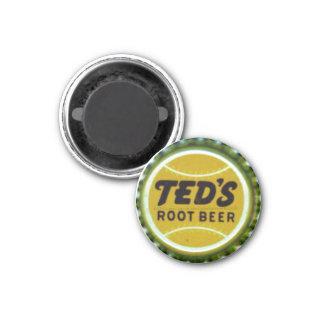 """""""Vintage bottle cap Label-TEDS ROOT BEER"""" Fridge Magnets"""