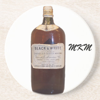 Vintage Bottle Scotch Whiskey Monogram Coaster