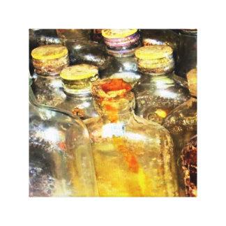 Vintage Bottles Canvas Print