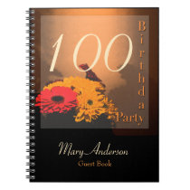 Vintage Bouquet 100th Birthday Party Guest Book
