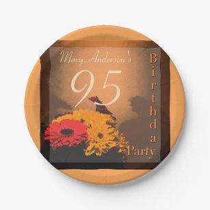 Vintage Bouquet 95th Birthday Party Paper Plates