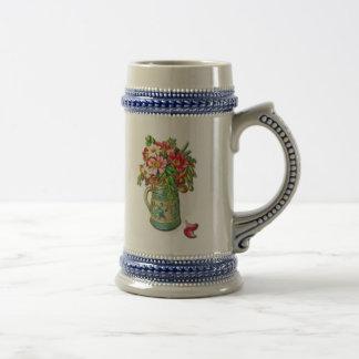 Vintage Bouquet Beer Stein