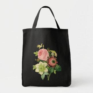 Vintage Bouquet Floral Canvas Bags