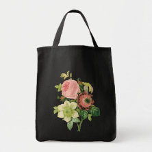 Vintage Bouquet Floral Canvas Bags