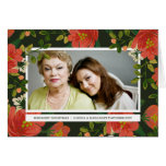 Vintage Bouquet Folded Holiday Photo Card