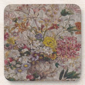 Vintage Bouquet Hard Plastic coasters
