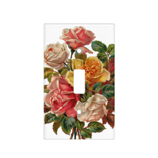 Vintage Bouquet Of Roses Light Switch Cover