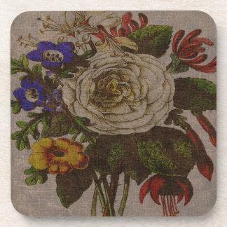 Vintage Bouquet Plastic coasters
