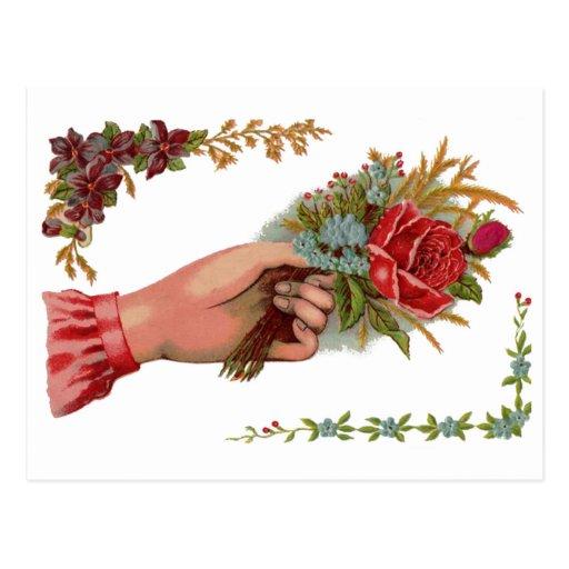 Vintage Bouquet Postcard