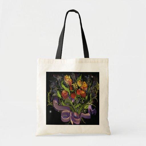 Vintage Bouquet Tote Tote Bags