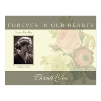 Vintage Bouquet with frame Sympathy Thank You P Postcard