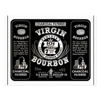 Vintage Bourbon Label Postcard
