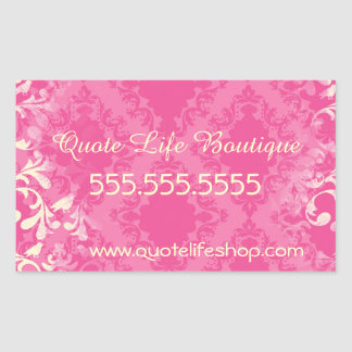 Vintage Boutique or Store Business Card Stickers