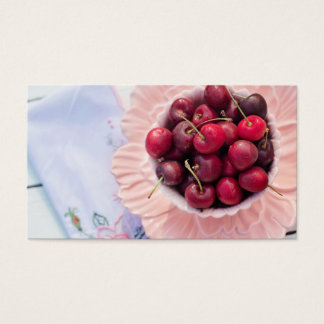 Vintage Bowl of Cherries Business Card