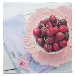 Vintage Bowl of Cherries Cloth Napkin