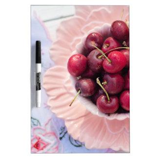 Vintage Bowl of Cherries Dry-Erase Board