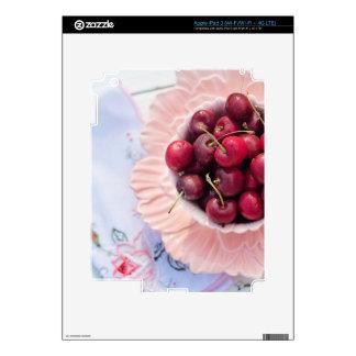 Vintage Bowl of Cherries Skin For iPad 3