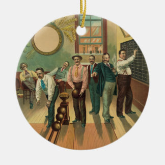 Vintage Bowling Alley #191 May 2 1894 Ceramic Ornament