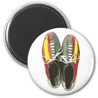 Vintage Bowling Shoes Retro Bowling Shoe 2 Inch Round Magnet