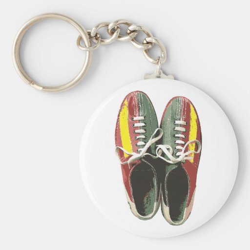 Vintage Bowling Shoes Retro Bowling Shoe Keychain