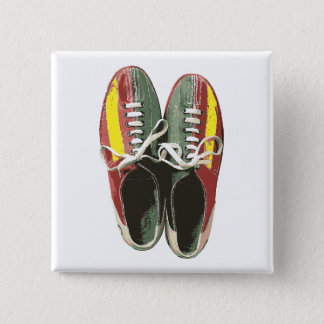 Vintage Bowling Shoes Retro Bowling Shoe Pinback Button