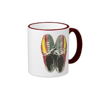 Vintage Bowling Shoes Retro Bowling Shoe Ringer Mug