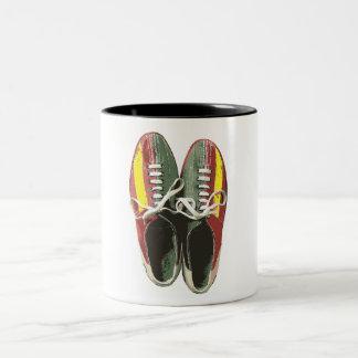 Vintage Bowling Shoes Retro Bowling Shoe Two-Tone Coffee Mug