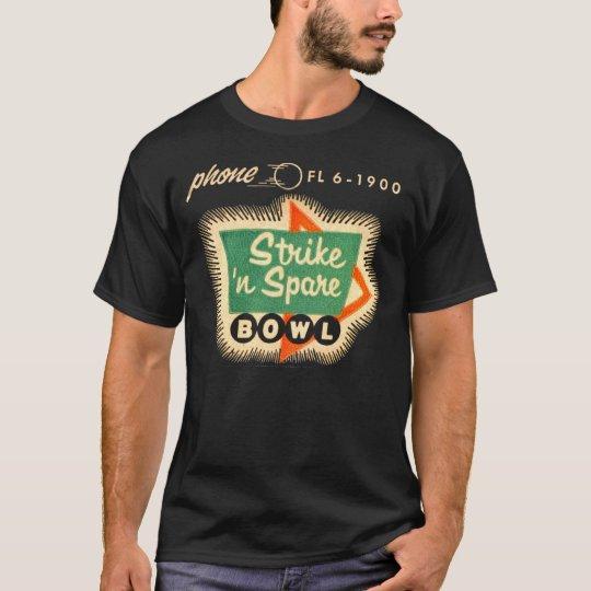Vintage Bowling Sign Matchbook Art T-Shirt