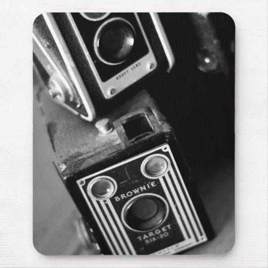 Vintage Box Cameras Mouse Pad