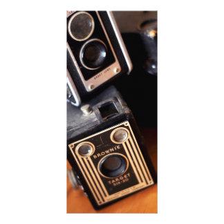 Vintage Box Cameras Rack Card Design