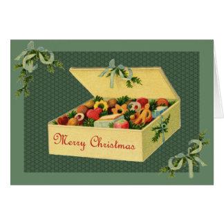 Vintage Box of Christmas Cookies Notecard Card