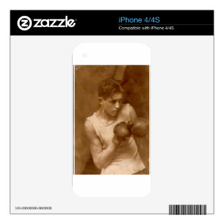 Vintage Boxer Boy Decals For The iPhone 4S