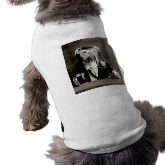Vintage Boxer funny dog photon Beer Smoking Dog T-shirt