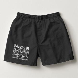 Vintage boxer shorts underwear for men's Birthday