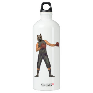 Vintage Boxer Westie Water Bottle
